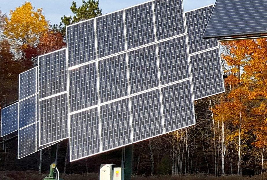 Solar arrays at Osprey Wilds