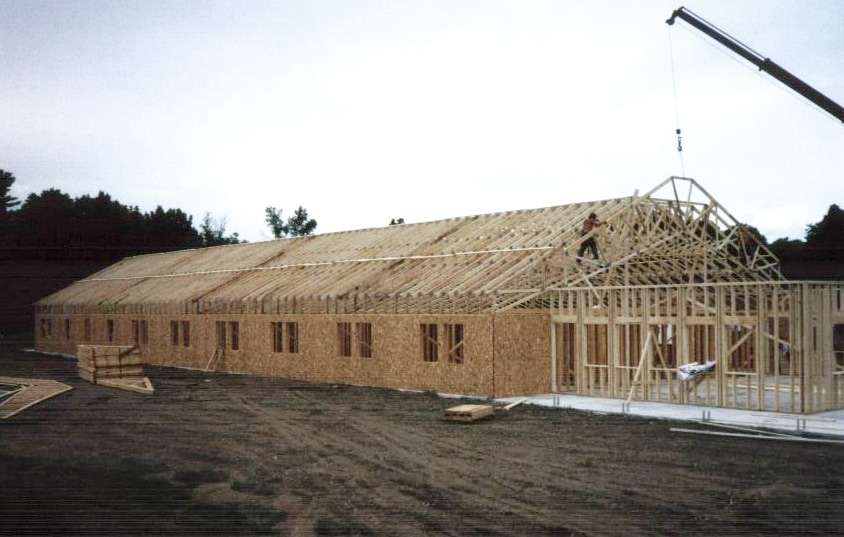 Construction of Crosby Lodge at Osprey Wilds