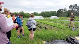 Sustainable Foods Hamline course at Osprey Wilds