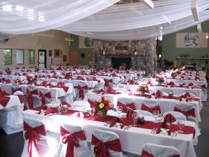 Dining Hall banquet at Osprey WIlds