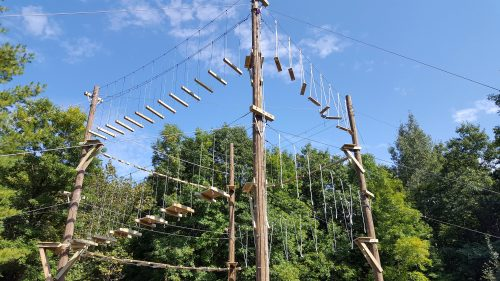 High Ropes course at Osprey Wilds